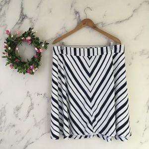 Lane Bryant Chevron Flare Skirt